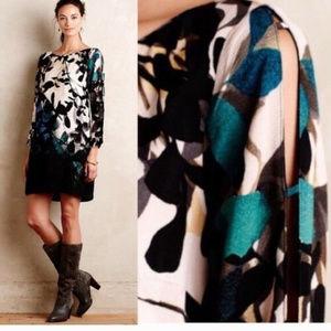 Anthropologie M Maeve Shaded Garden Shift Dress